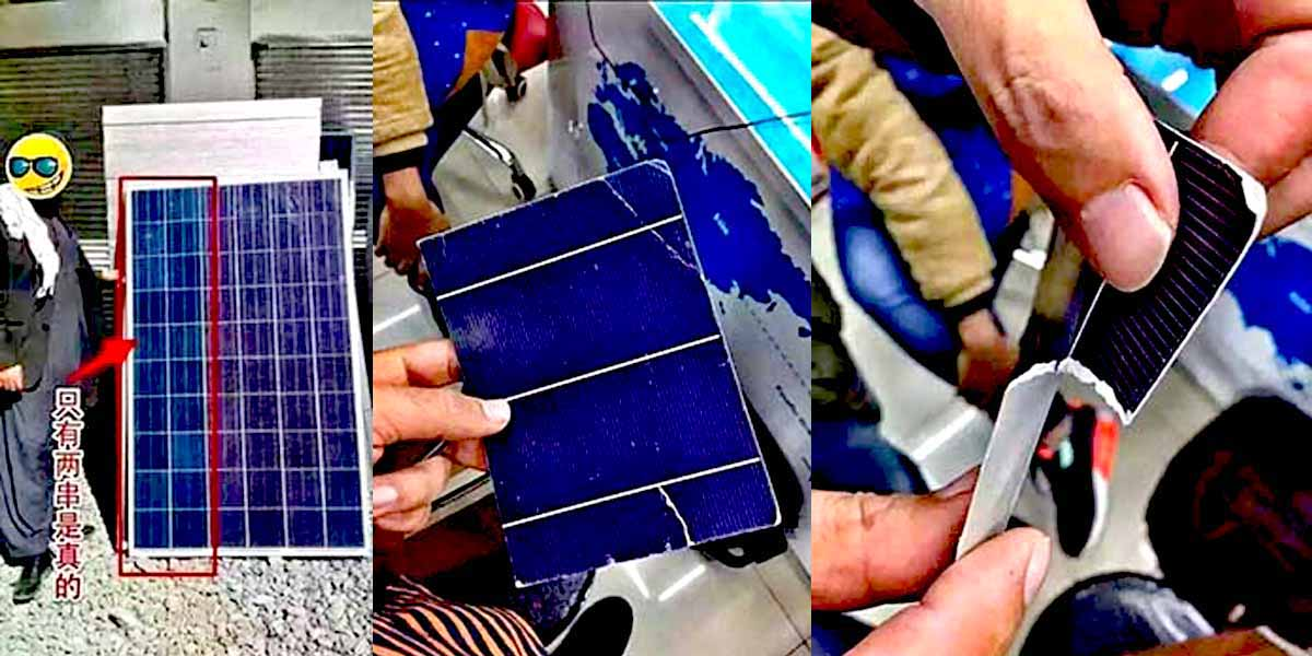fake solar panels large spreading in Pakistan from China Companies