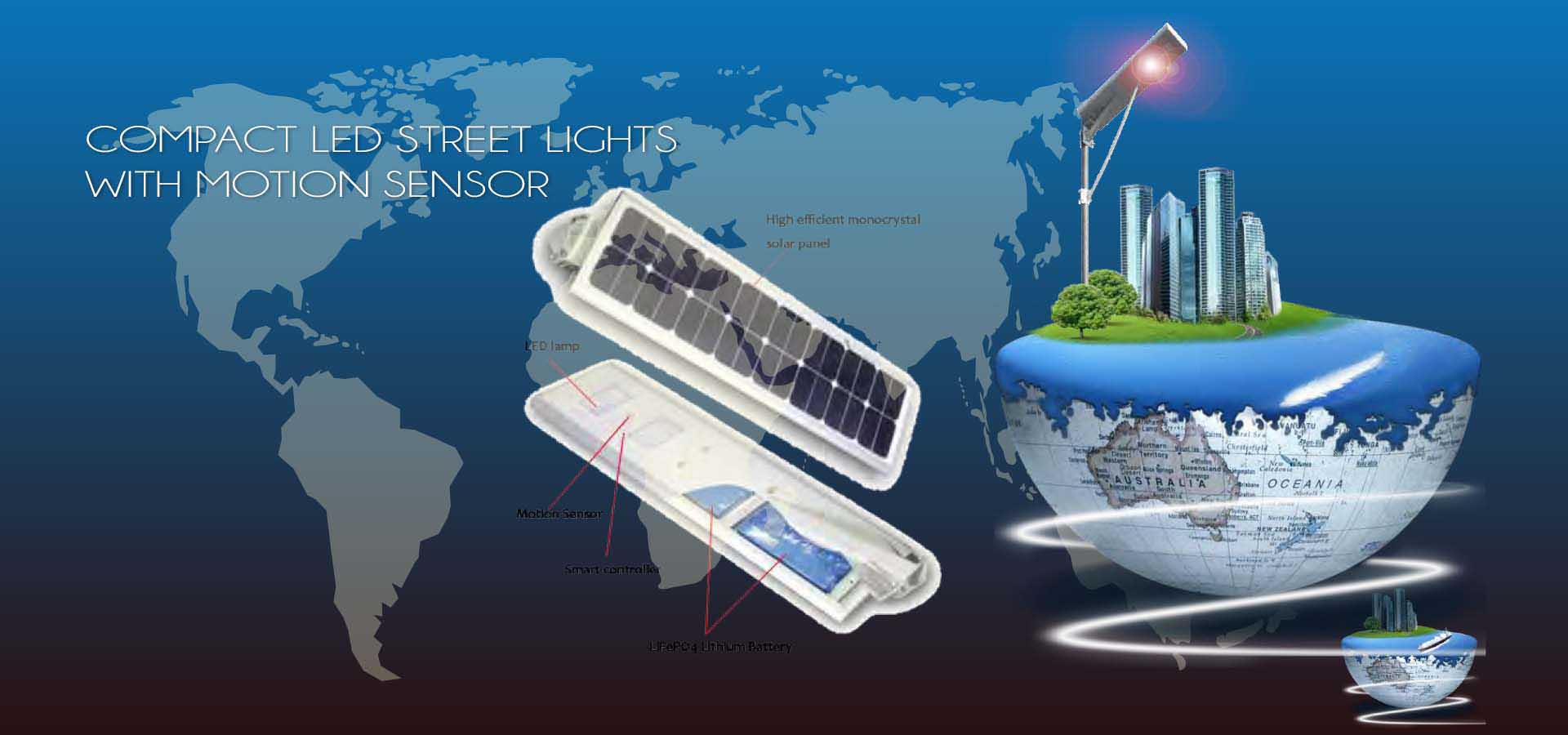compact led street lights with motion sensor