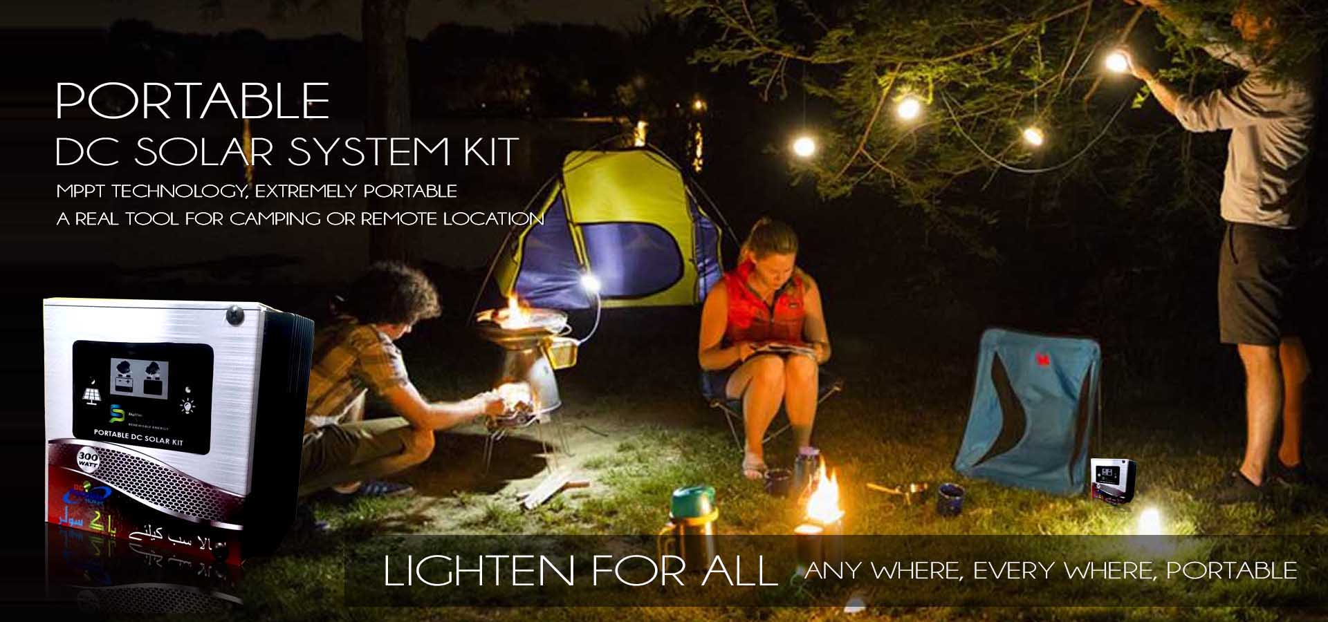 Solar DC system portable MPPT kit for family camping