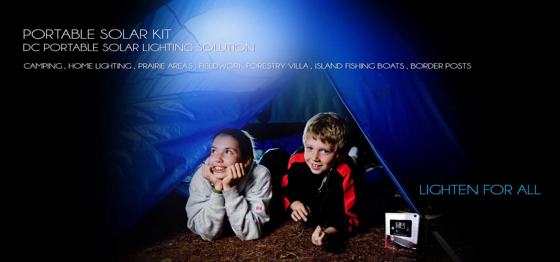 kids solar dc system kit for camping