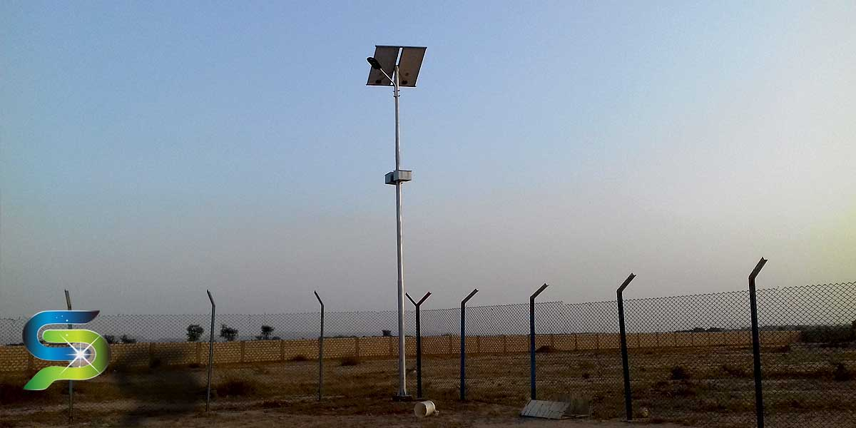 100W Solar Street Lighting System installed at OGDCL Warehouse, Superhighway