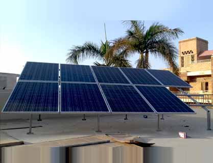 2.25KW Solar Off-Grid Hybrid system installed at Gulshan-e-Iqbal, 13-D, by PAKSOLAR