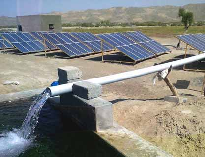 4 inch 24KW solar water pump tube well system installed in Baluchistan