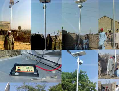 5KW Solar street light solution HUB Co Power project at Goth Abbas, newr Hub Chowki Baluchistan 34pcs complete system with poles