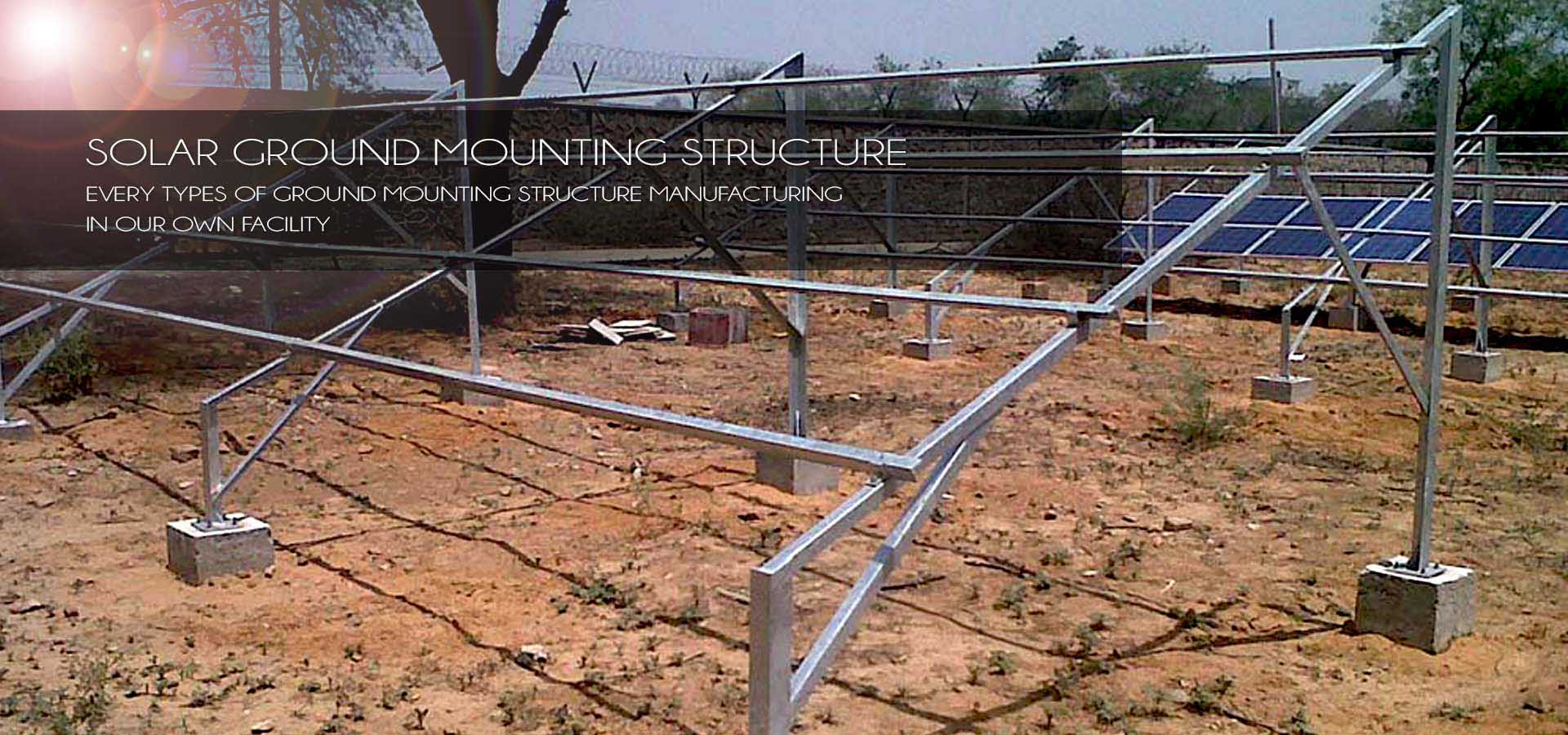 Solar Panel Mounting Structure Ms Gi And Aluminium Manufacturer