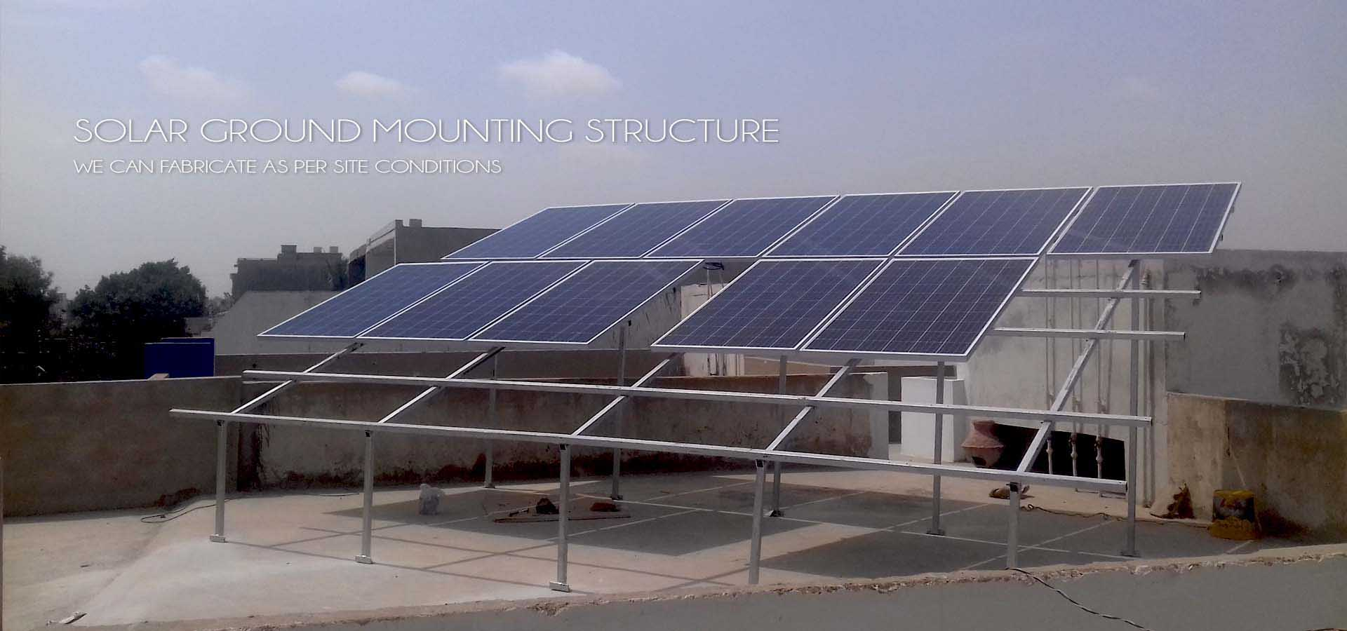 Solar panel mounting structure ms gi and aluminium for Solar panel blueprint