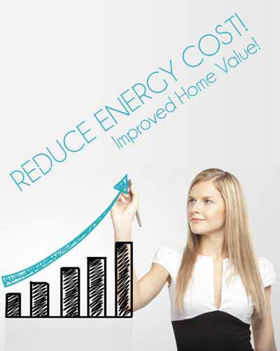 Reduce energy cost improved home value!
