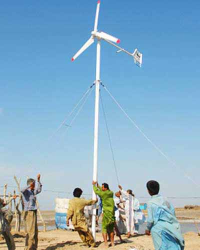 Wind Turbine System installed by Pakistan Solar Services in Baluchistan
