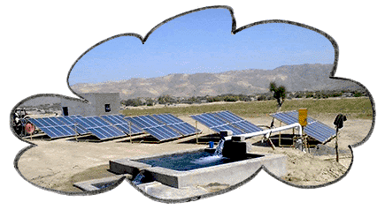 solar water pump system diagram concept